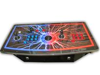478 2-player, black, red, blue, electricity, blue buttons, red buttons, lighted